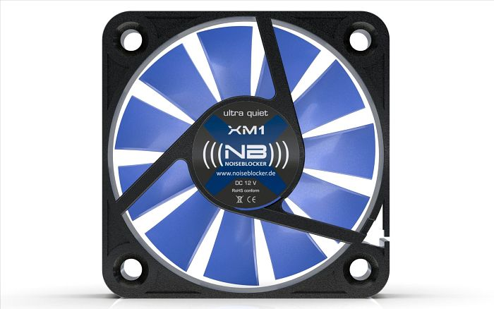 Noiseblocker NB-BlackSilentFan XM1,  40x40x10mm, 2800rpm, 4.9m³/h, 11dB(A)
