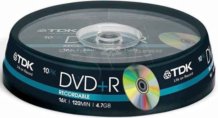 TDK DVD+R 4.7GB 16x, 10er Spindel (T19442)