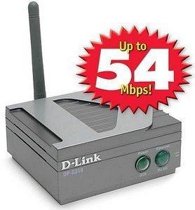 D-Link DP-G310 bezprzewodowy serwer wydruku, 54Mbps, USB 2.0