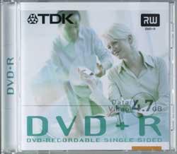 TDK DVD+R 4.7GB 16x, 10er Spindel scratchproof