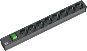 "Bachmann 19"" IT PDU Basic, black, with Switches, 8-way, 1U, 2m (333.505)"
