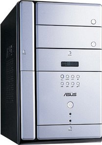 ASUS Terminator T2-R Standard Mini-Tower Barebone (socket 478, dual PC3200 DDR, various colours)