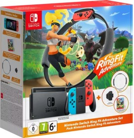 Nintendo Switch - Ring Fit Adventure Bundle schwarz/blau/rot