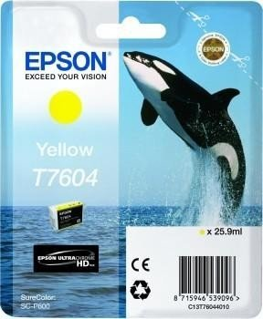 Epson ink T7604 yellow (C13T76044010)