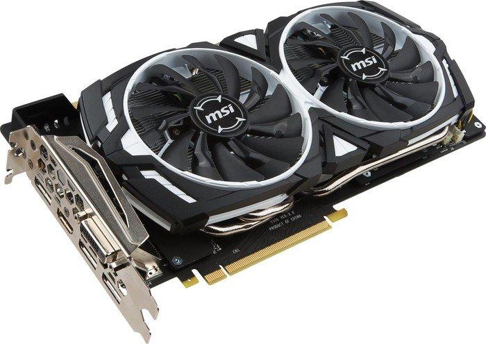 MSI GeForce GTX 1080 Armor 8G OC, 8GB GDDR5X, DVI, HDMI, 3x DP (V336-004R)