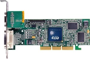 Matrox Millennium G550, 32MB DDR, VGA, DVI, TV-out, bulk (G55+MDHA32DBF)