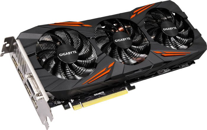 Gigabyte GeForce GTX 1080 G1 Gaming, 8GB GDDR5X, DVI, HDMI, 3x DisplayPort (GV-N1080G1 GAMING-8GD)