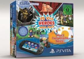 Sony PlayStation Vita Slim Wi-Fi Mega Pack Bundle Heroes schwarz