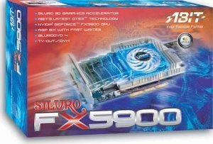 ABIT Siluro FX5900 OTES, GeForceFX 5900, 128MB DDR, DVI, TV-out, AGP