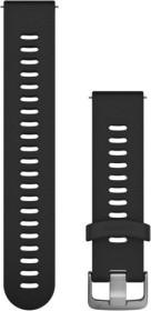 Garmin Schnellwechsel Ersatzarmband 20mm Silikon schwarz/Edelstahl 107-196mm (010-11251-0Y)