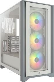 Corsair iCue 4000X RGB weiß, Glasfenster (CC-9011205-WW)