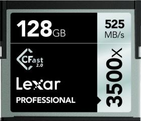 Lexar R525/W445 CFast 2.0 CompactFlash Card [CFAST2.0] Professional 3500x 128GB (LC128CRBEU3500)
