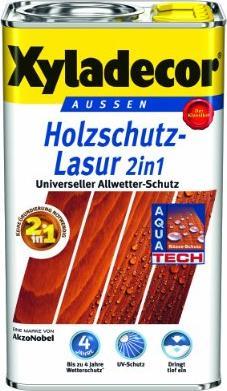 Xyladecor Holzschutz Lasur 2in1 Aussen Holzschutzmittel Eiche Hell 5l