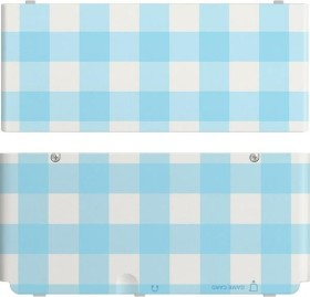 Nintendo decorative panel 013 for New 3DS - blue/white checkered (DS)
