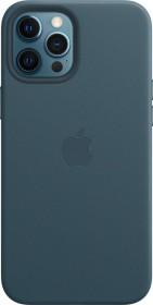 Apple Leder Case mit MagSafe für iPhone 12 Pro Max baltischblau (MHKK3ZM/A)