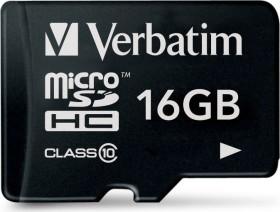 Verbatim microSDHC 16GB, Class 10 (44010)