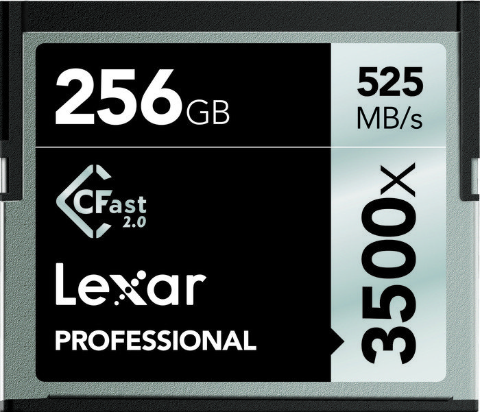 Lexar R525/W445 CFast 2.0 CompactFlash Card [CFAST2.0] Professional 3500x 256GB (LC256CRBEU3500)