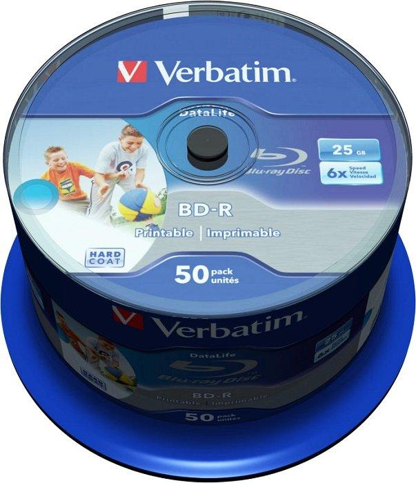 Verbatim BD-R 25GB 6x, 50er Spindel Wide Inkjet printable (43812)