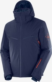 Salomon Brilliant Skijacke night sky/goji berry (Herren) (C13991)