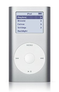 Apple iPod mini Musicplayer 4GB srebrny (1G) (M9160ZR/A)