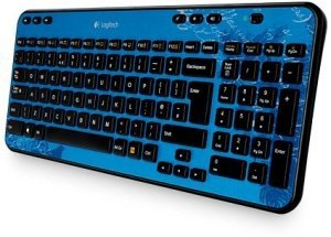 Logitech K360 Wireless Keyboard Indigo Scroll, USB, DE (920-003264)