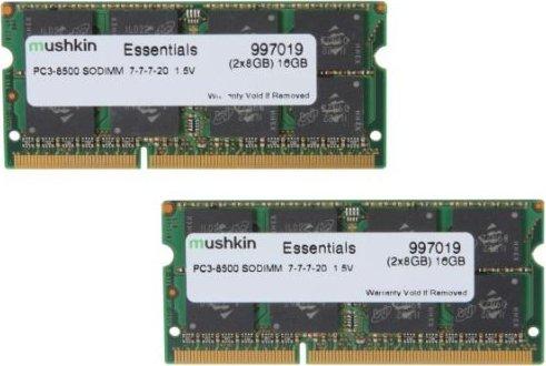 Mushkin Essentials SO-DIMM Kit 16GB, DDR3-1066, CL7-7-7-20 (997019) -- via Amazon Partnerprogramm