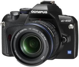 Olympus E-450 schwarz mit Objektiv 14-42mm 3.5-5.6 und 40-150mm 4.0-5.6 (N3591292)