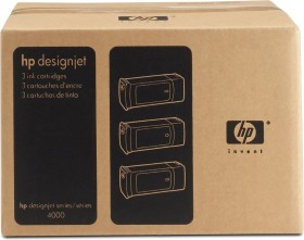 HP ink 90 cyan high capacity, 3-pack (C5083A)