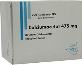 Calciumacetat 475mg Filmtabletten, 200 Stück