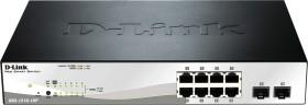 D-Link DGS-1210 desktop Gigabit Smart+ switch, 8x RJ-45, 2x SFP, 78W PoE+ (DGS-1210-10P)