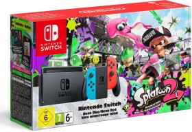 Nintendo Switch - Splatoon 2 Bundle schwarz/blau/rot