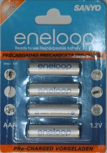 Panasonic eneloop new Micro AAA NiMH rechargeable battery 800mAh, 4-pack (HR-4UTGA) -- provided by bepixelung.org - see http://bepixelung.org/979 for copyright and usage information