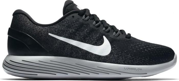 Nike Damen Wmns Lunarglide 9 Traillaufschuhe, Mehrfarbig (Black/White/Dark Grey/Wolf Grey 001), 38 EU