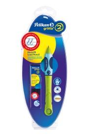 Pelikan griffix Bleistift HB Linkshänder Blisterkarte, Green (965538)