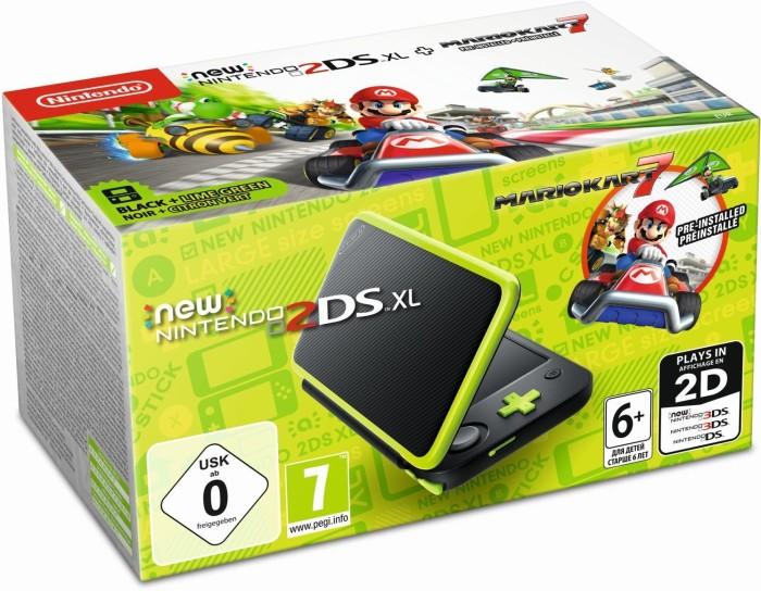 Nintendo New 2DS XL Mario Kart 7 Bundle black/green
