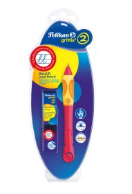 Pelikan griffix Bleistift HB Rechtshänder Blisterkarte, Cherry (928176)