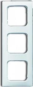 Busch-Jaeger Reflex SI linear cover frame 3-way frame, alpine white (2513-214K-102)