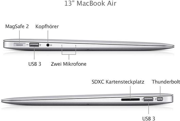 produktbilder apple macbook air 13 3 core i5 4250u 4gb. Black Bedroom Furniture Sets. Home Design Ideas