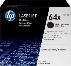 HP Toner 64X black, 2-pack (CC364XD)