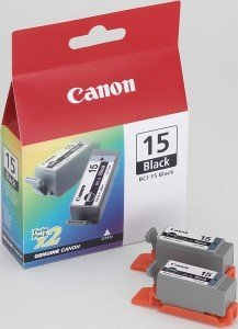 Canon BCI-15BK Ink black, 2-pack (8190A002)