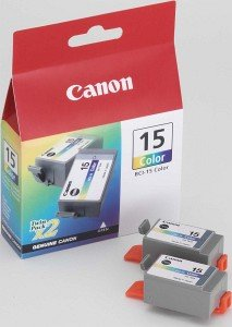 Canon BCI-15C ink coloured, 2-pack (8191A002)