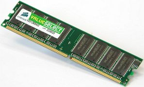 Corsair ValueSelect DIMM 512MB, DDR-333, CL2.5-3-3-7-2T (VS512MB333)