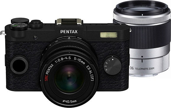 Pentax Q-S1 black with lens 5-15mm 2.8-4.5 and 15-45mm 2.8 (06084)