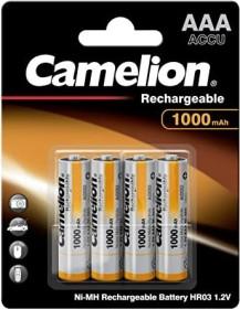 Camelion rechargeable Micro AAA NiMH 1000mAh, 4-pack (NH-AAA1000BP4)