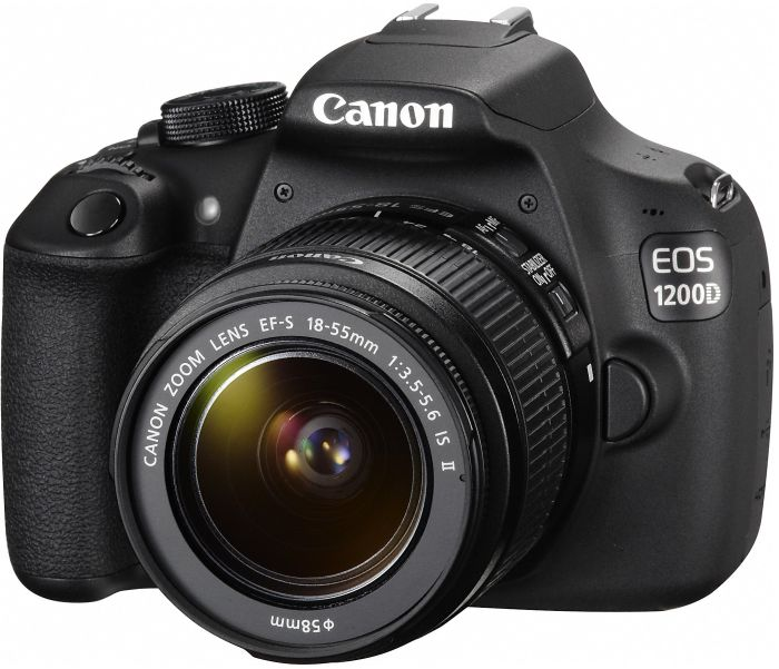 Canon EOS 1200D black with lens EF-S 18-55mm 3.5-5.6 IS II (9127B024)