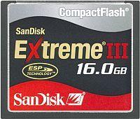 SanDisk R20/W20 CompactFlash Card [CF] Extreme III 16GB (SDCFX3-16384)