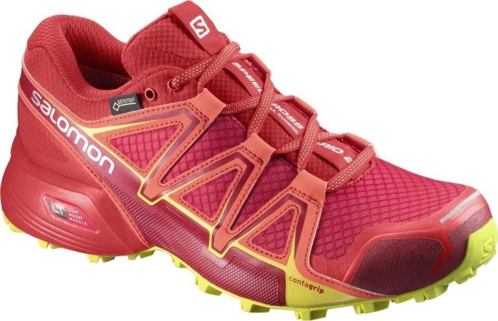Salomon Damen Speedcross Vario 2 GTX Trailrunning-Schuhe, Rot (Barbados Cherry/Poppy Red/Sulphur Spring), Gr. 42 2/3