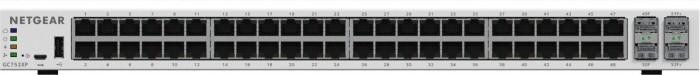 Netgear Insight GC700 Rackmout Gigabit Managed switch, 48x RJ-45, 2x SFP, 2x SFP+, PoE+ (GC752XP-100)