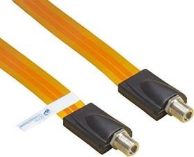 Good Connections SAT window conduit high-quality, total length incl. plug 53,5cm, flexible length 44,5cm, transparent (S-1000QL)