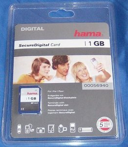 Hama SD Card 1GB (56940) -- © bepixelung.org